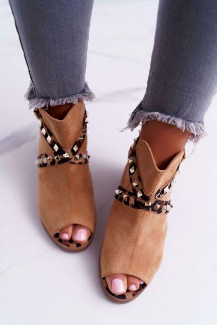 Dámske sandále na podpätku Lu Boo ťavia 318-30 Fiode