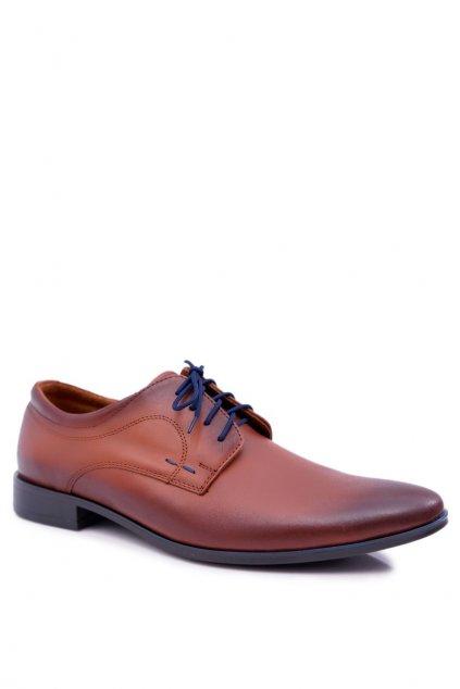 Pánske poltopánky farba hnedá kód obuvi 277 BROWNN