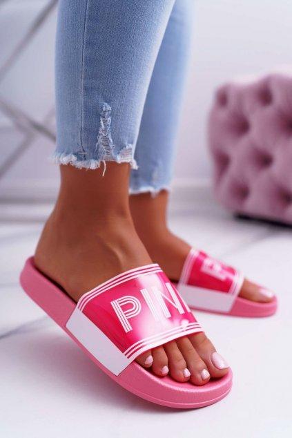 Dámske šľapky farba ružová kód obuvi ZD811-72 PINK
