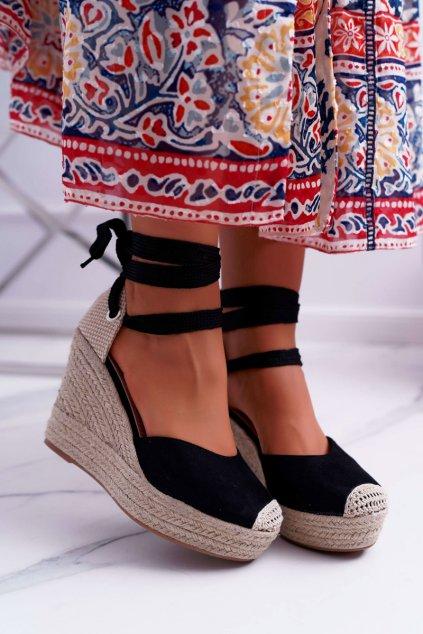 Dámske Sandále na platforme čierne Tahaya