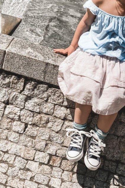 Detské tenisky farba modrá kód obuvi 80090 NAVY