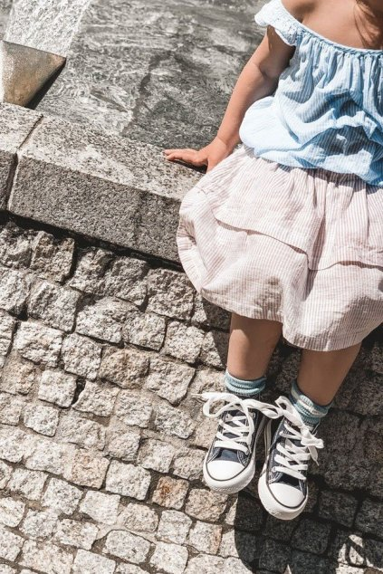 Detské vysoké tenisky tmavo modré Filemon