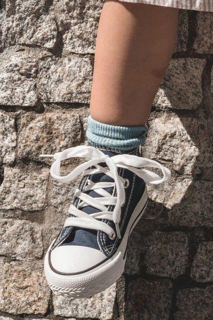 Detské tenisky farba modrá kód obuvi 80090-D NAVY