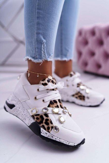 Dámska športová obuv Lu Boo biele Frency