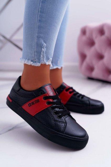 Dámske tenisky farba čierna kód obuvi EE274339 BLK / RED
