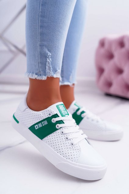 Dámske tenisky B. Star Bielo-zelené EE274336