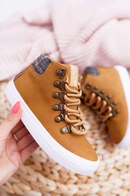 Detské tenisky farba hnedá kód obuvi EE374039 CAMEL