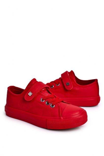 Detské tenisky farba červená kód obuvi EE374036 RED