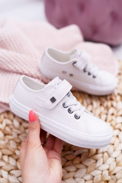 Detské tenisky farba biela kód obuvi EE374035 WHITE