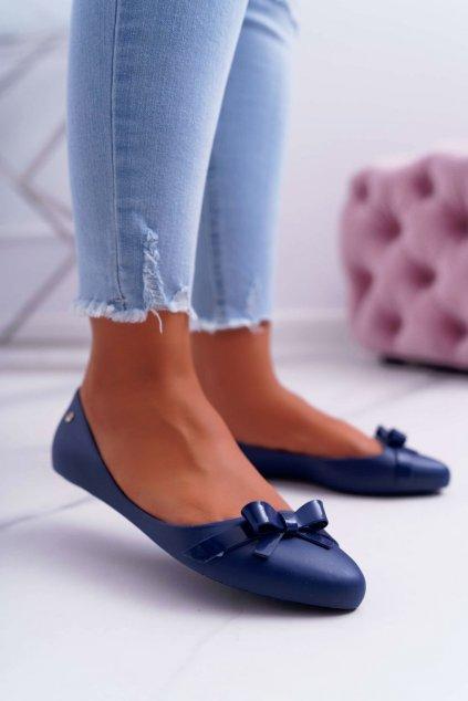 Dámske balerínky farba modrá kód obuvi KM10-1 NAVY