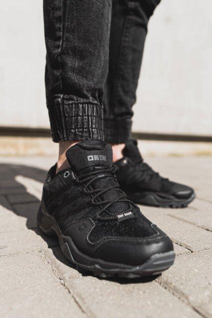 Pánske trekingové topánky farba čierna kód obuvi EE174456 BLK