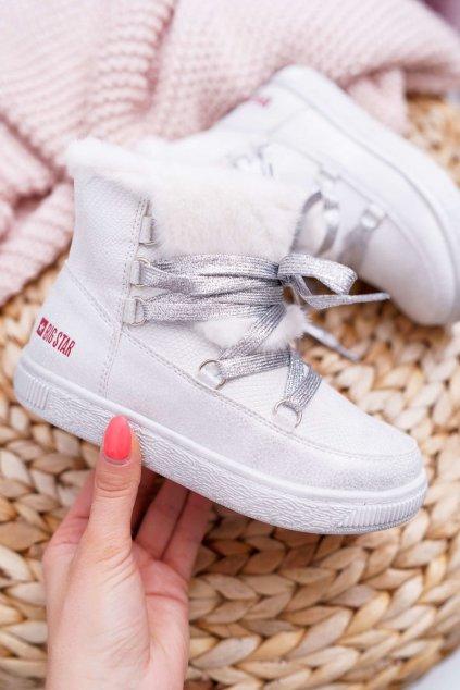 Detská Dievčenské Kotníková obuv B. Star biele EE374079