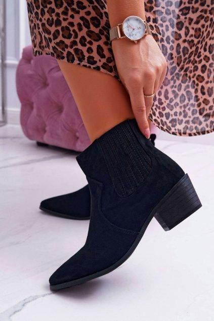 Dámske členkové topánky čierne Umberco