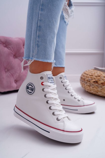 Dámska Obuv Sneakers B. Star biele EE274616