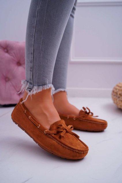 Dámske mokasíny farba hnedá kód obuvi KJD-S2 CAMEL