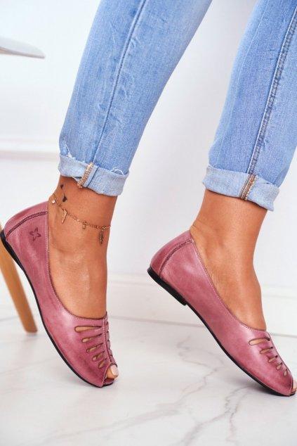Dámske balerínky farba ružová kód obuvi 03497-15/00-6 PINK