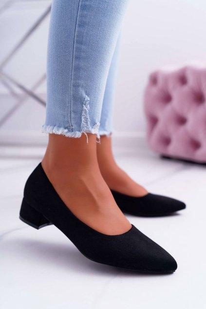 Dámske lodičky farba čierna kód obuvi CC205 BLK