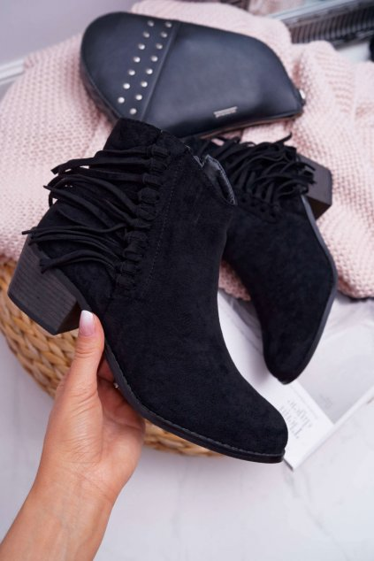 Dámske členkové topánky čierne Agnes