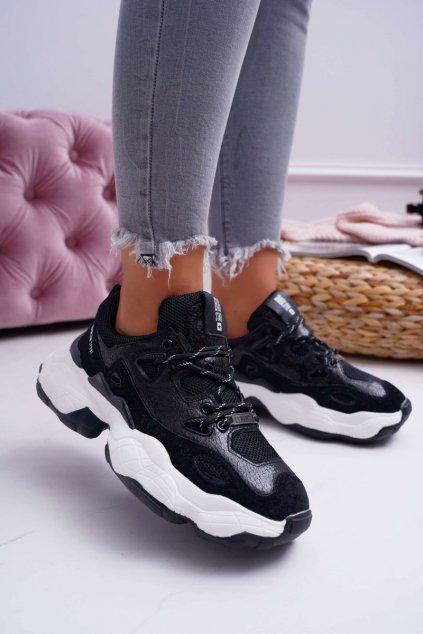 Dámske tenisky farba čierna kód obuvi FF274431 BLK