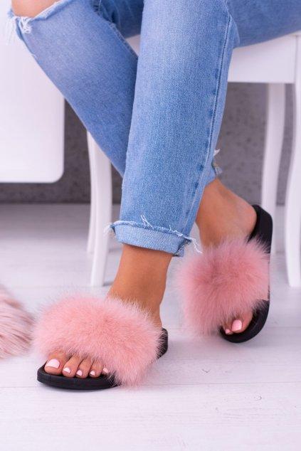Dámske šľapky farba ružová kód obuvi 870 PINK