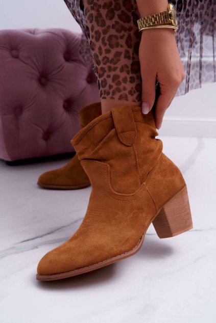 Dámske členkové topánky na podpätku Camel Maverick