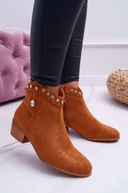 Dámske členkové topánky se Zirkony Camel Patti