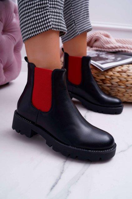 Dámske členkové topánky Perka Červené Elastické gumičky čierne Superpower