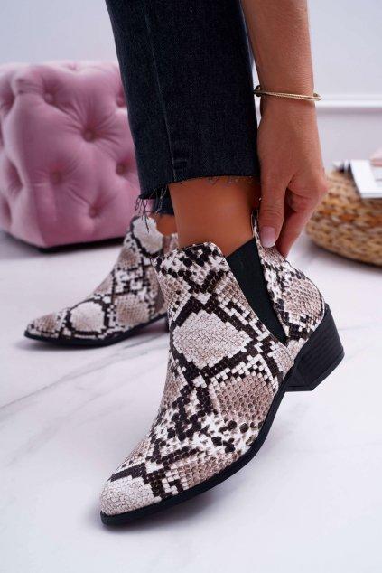 Nízke topánky hadia koža Murino