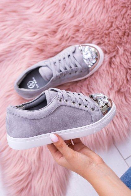 Dámske tenisky farba sivá kód obuvi XW37015 GREY