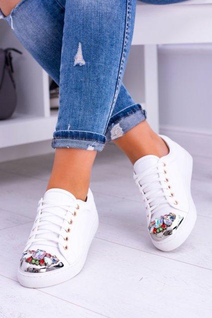 Dámske tenisky farba biela kód obuvi XW37015 WHI