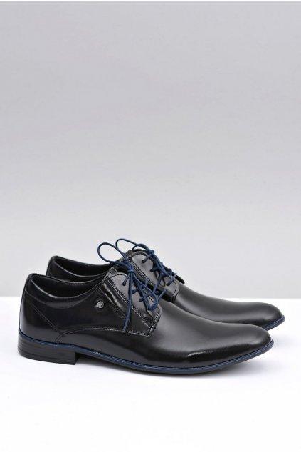 Pánske poltopánky farba čierna kód obuvi 850 BLK