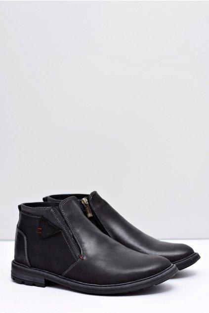 Pánske čierne topánky Worena