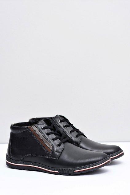 Pánske topánky s poltopánky so zipsom Cacado