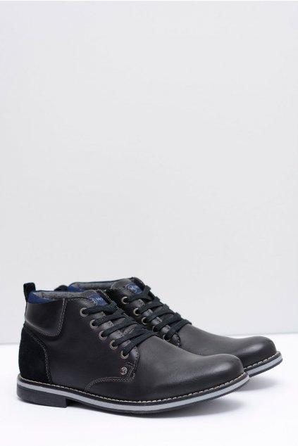 Pánske čierne oteplené topánky Cruzo