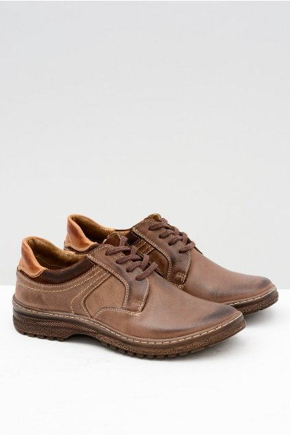 Pánska turistická obuv Ernesto Natural Leather