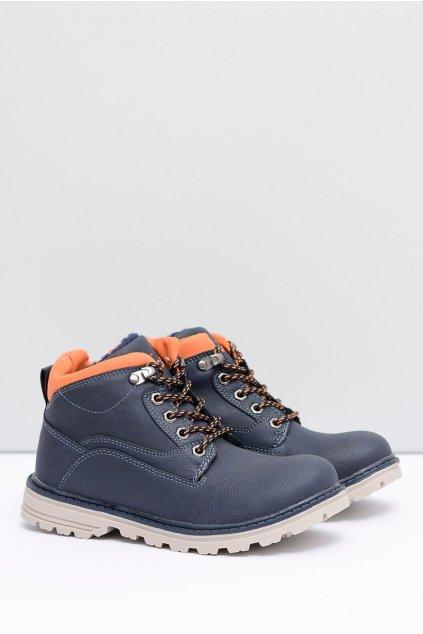Modré detské chlapčenské topánky s Fleece Billy