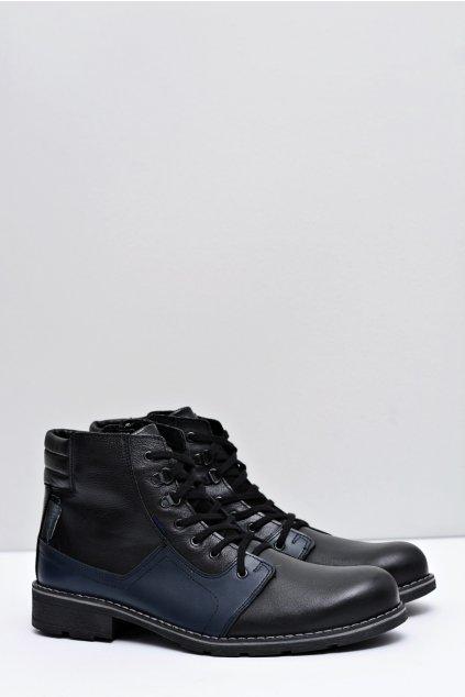 Pánske čierne kožené topánky Randal