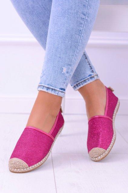 Dámske tenisky farba ružová kód obuvi 2870-1 FUSHIA