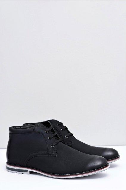 Pánske topánky na zimu farba čierna kód obuvi NL71-1 BLK