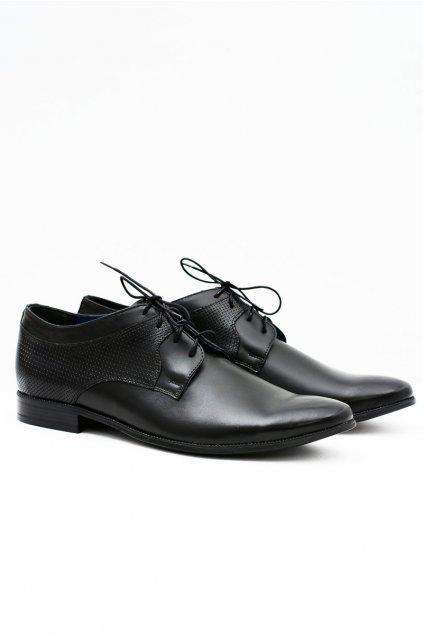 Pánske poltopánky farba čierna kód obuvi 386 BLK
