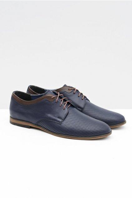 Pánske poltopánky farba čierna kód obuvi 383 NAVY