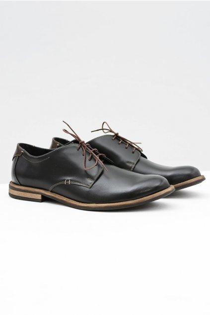 Pánske poltopánky farba čierna kód obuvi 336 BLK