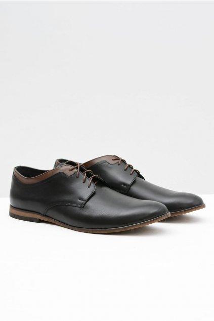 Pánske poltopánky farba čierna kód obuvi 373 BLK