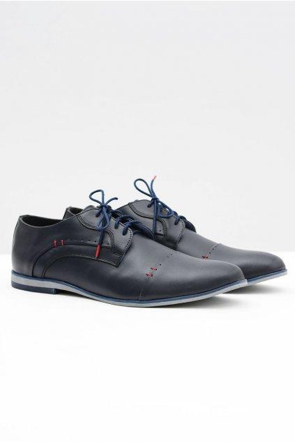 Pánske poltopánky farba modrá kód obuvi 375 NAVY