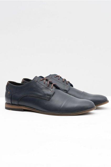 Pánske poltopánky farba modrá kód obuvi 376 NAVY