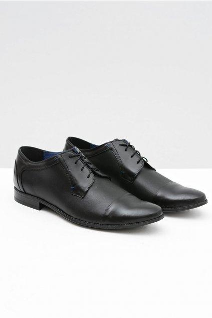 Pánske poltopánky farba čierna kód obuvi 389 BLK