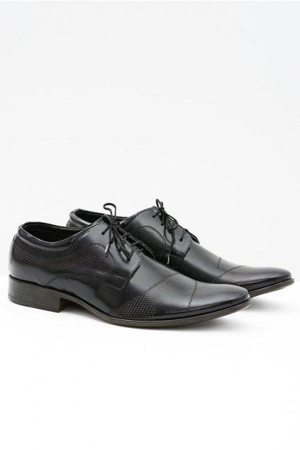Pánske poltopánky farba čierna kód obuvi L5 BLK