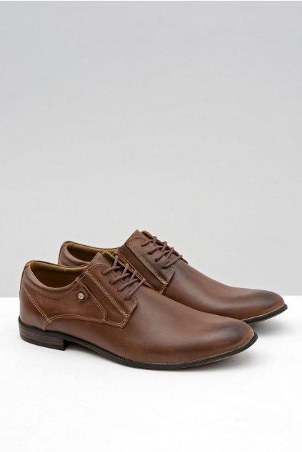 Pánske poltopánky farba hnedá kód obuvi 850 BROWN