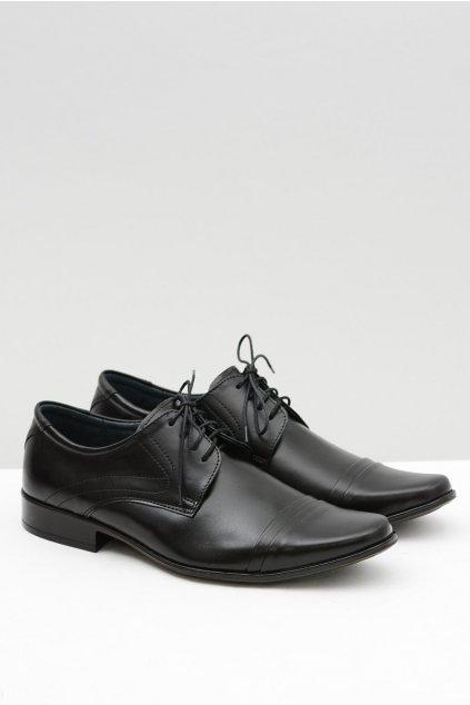 Pánske čierne elegantné kožené topánky Simon
