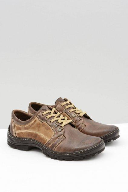 Pánske kožené klasické hnedé topánky Favello